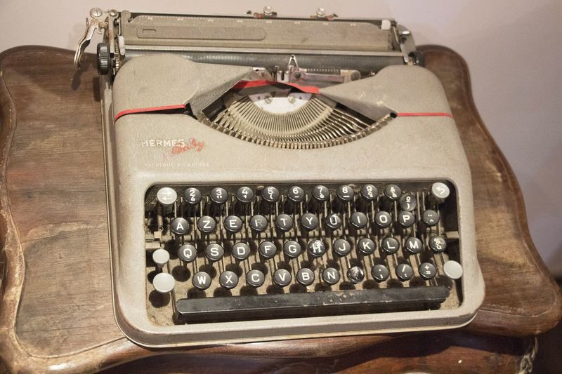 A Moment In Time Communication Desktop Interior Old Old But Awesome Old-fashioned Stationery Still Life Tools Typewriter Writting Classic
