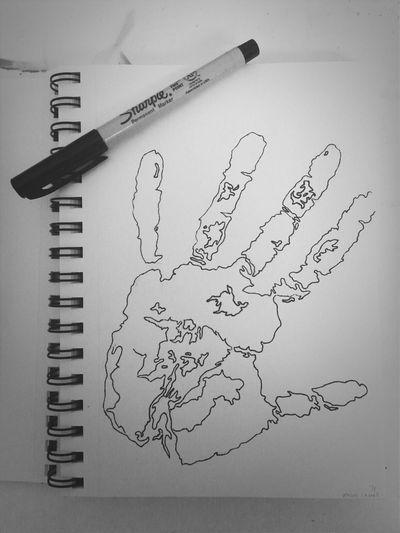 """Identity"" Sharpies  Handprint Art"