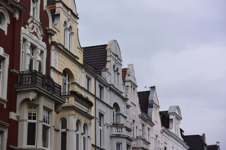 Old Buildings Architecture Balcony Bonn Germany Building Exterior Built Structure City Day Low Angle View No People Outdoors Residential Building Sky