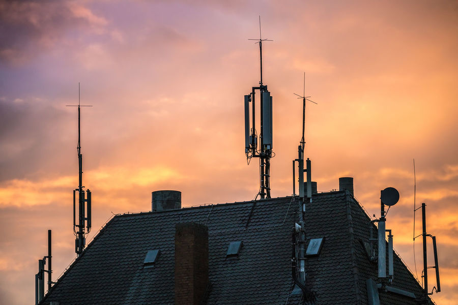 Architecture Mobile Phone Sunset Sky Built Structure Radio Station Radiology Antenna - Aerial Unhealthy