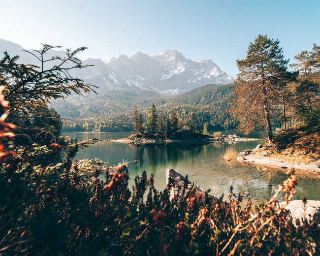 Eibsee lake Alpen Bavaria Eibsee Bavarian Alps Beauty In Nature Garmisch-partenkirchen Idyllic Lake Lake View Lakeside Landscape Landscape_photography Mountain Mountain Peak Mountain Range Nature No People Outdoors Plant Reflection Scenics - Nature Tree Water