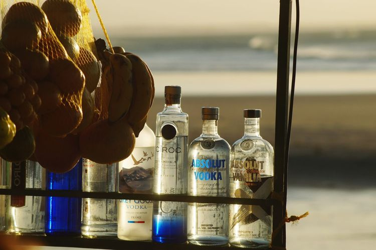 #Vodka #vibes Water Drink Bottle Close-up
