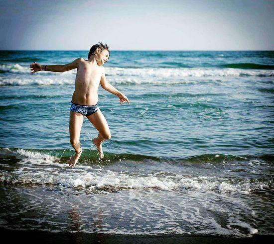 Mare Water Child Sea Full Length Beach Swimming Childhood Boys Summer Shirtless