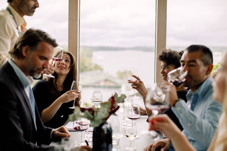 Group of people at restaurant