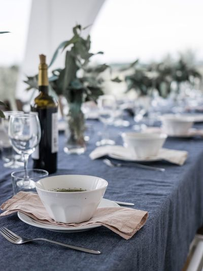 Sommergefühle EyeEm Selects Garden Dinner Outdoors Weekend Activities Friends Gathering Table Table Setting Table Scene Soup