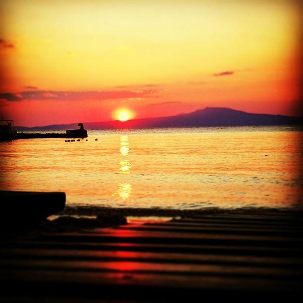 Sunset Greece Stoupa