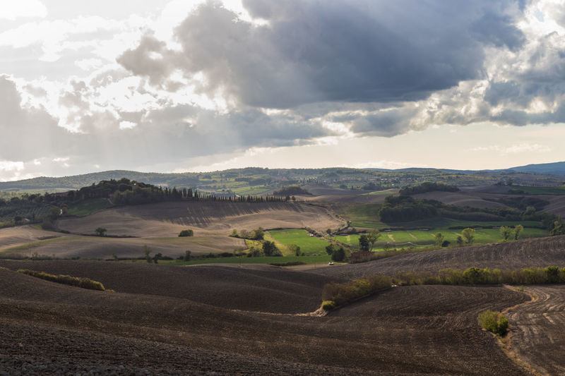 Tuscany Agriculture Arid Climate Beauty In Nature Cloud - Sky Countryside Day Environment Field Italy Land Landscape Mountain Nature No People Non-urban Scene Outdoors Road Rolling Landscape Rural Scene Scenics - Nature Sky Tranquil Scene Tranquility Transportation