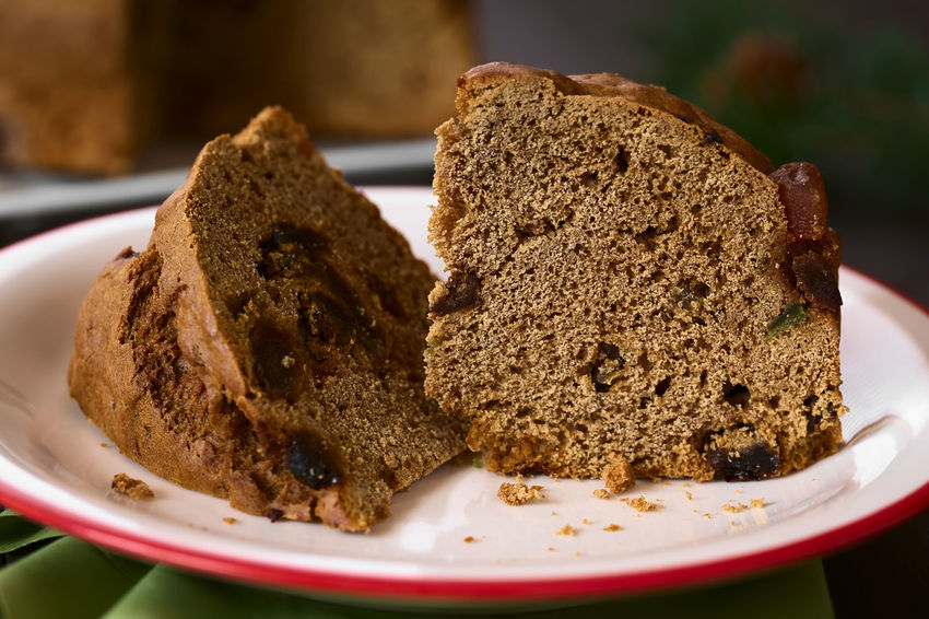 Traditional Chilean Pan de Pascua Christmas Cake made with spices, dried fruits and raisins, photographed with natural light (Selective Focus, Focus in the middle of the standing slice) Breakfast Chile Chilean  Christmas Christmas Cake Holiday Pascua  Raisin Baked Cake Chilean Food Close-up Dessert Dried Fruit Food Food And Drink Pan De Pascua Pastry Seasonal SLICE Slice Of Cake Snack Spice Sweet Sweet Food