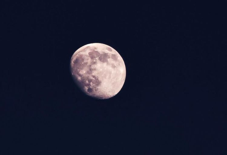 Moon Night Tranquil Scene Astronomy