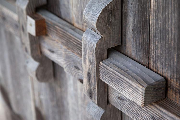 Nongae Birth Place, Jangsugun, Jeonlabukdo, South Korea Autumn Autumn Colors Close-up Closed Day Door Doors Fall Fall Beauty Locked Up No People Outdoors Plank Traditional Door Wood - Material