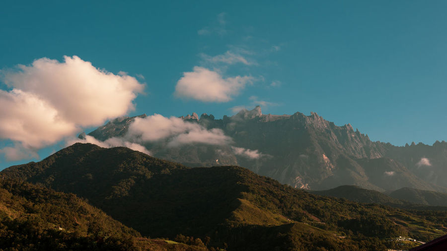 Mount Kinabalu, Sabah Mountain Sky Scenics - Nature Beauty In Nature Cloud - Sky Tranquility Tranquil Scene Mountain Range Nature Environment Landscape No People Non-urban Scene Day Outdoors Mountain Peak Idyllic Remote Land Majestic Formation Range Mount Kinabalu Borneo Sabah Malaysia Kinabalu EyeEm Nature Lover EyeEm Selects