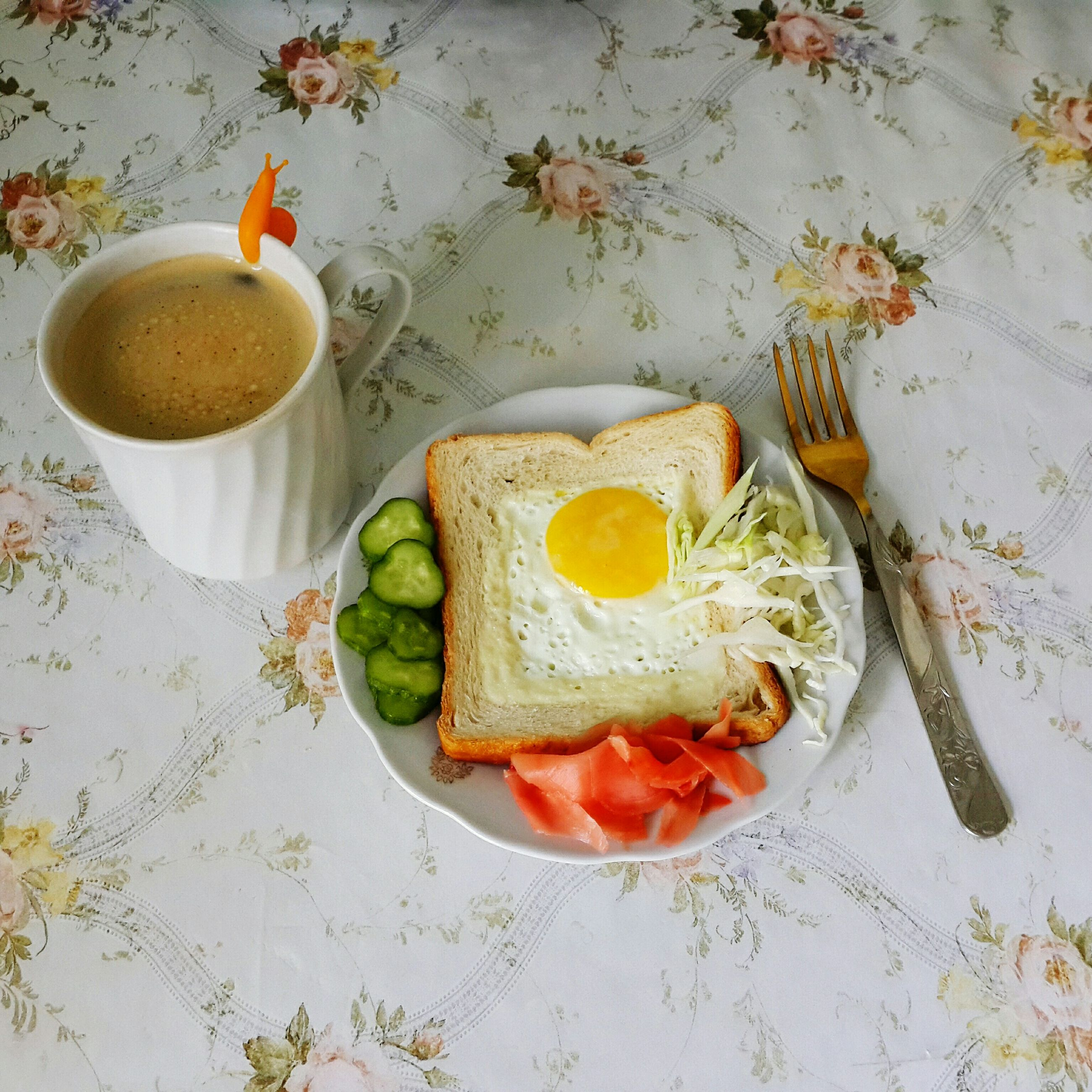food and drink, food, table, freshness, indoors, drink, still life, healthy eating, plate, high angle view, refreshment, breakfast, ready-to-eat, bread, coffee cup, serving size, fruit, coffee - drink, slice, no people