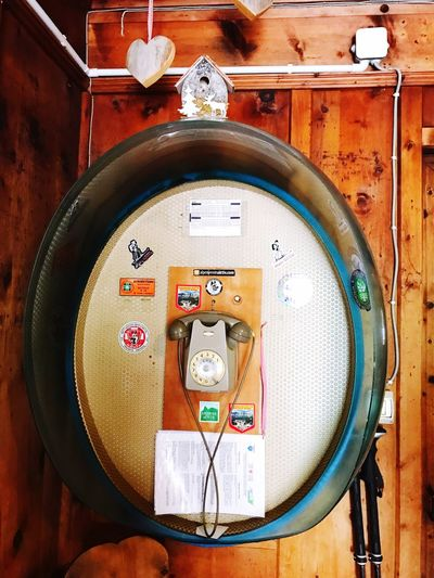 Memories Old Technology Old Telephone Line Communication No People Shape Close-up Circle Geometric Shape Indoors  Design Technology Wood - Material