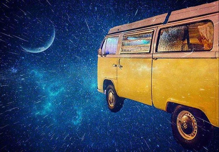 Let's be Adventurers! Planet Adventures Spacetrips Destination VW Campervan Warpdrive Travel Imagination Digitalart  Stars WOW Edit Creative Wonder Stargazing Astrophotography Astronomy Fun Aberdeenshire Scotland Beautiful EyeEm Best Edits