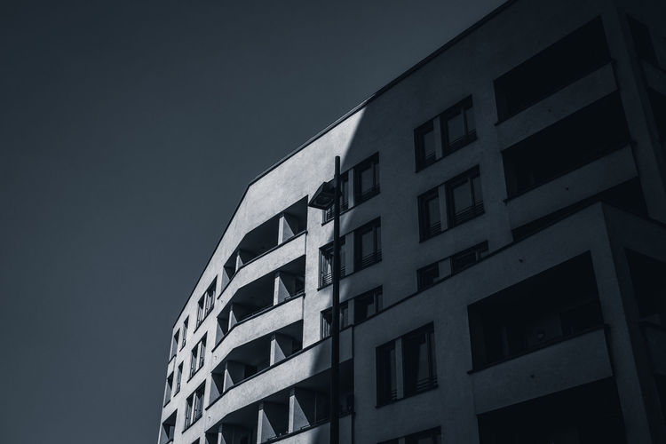 Building Exterior Architecture Built Structure Sky Low Angle View Building Clear Sky City No People Window Nature Modern Outdoors Night Residential District Office Geometric Shape Apartment The Architect - 2019 EyeEm Awards