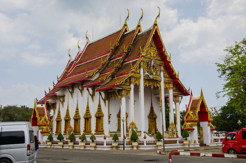 Panoramic view of traditional building against sky