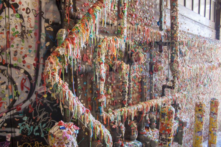 Gum wall Multi Colored No People Abundance Day Art And Craft Variation Creativity Pattern
