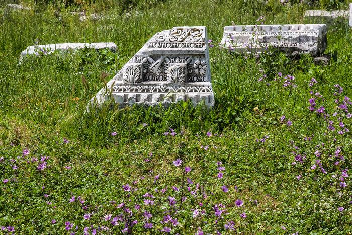 antike Stadt Perge in der Südtürkei, antique town Perge in south-turkey Altertümer Temple Of Artemis Antique Perge Antiantic Antike Archeologique Historisch, Historic Ruinen