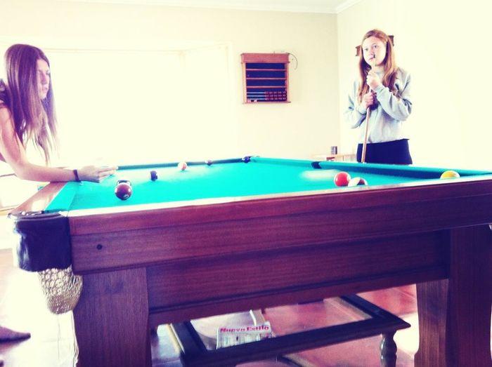 Jugando pool
