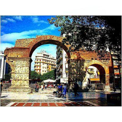 Kamara , the Arch of Galerius Thessaloniki Θεσσαλονίκη Solun Salonika Greece VisitGreece Instagreece Greecestagram White City Whitecity Historicalplaces