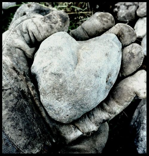 No People Weathered From My Point Of View Beauty Of The Ordinary Weatherbitten Heartshaped Stone Heartshapedstone Workinghands Missing Love