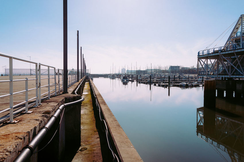 Architecture Blue Bridge - Man Made Structure Built Structure Day Expo 98 Industry Nature Nautical Vessel No People Outdoors Reflection Sky Water