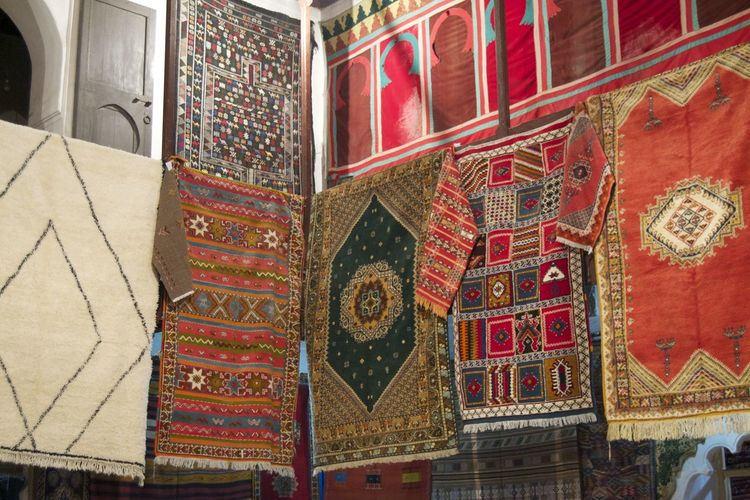Artesania Artesanos Bereber Carpets Day Indoors  Marocco Marrakesh No People Carpet Design Carpet