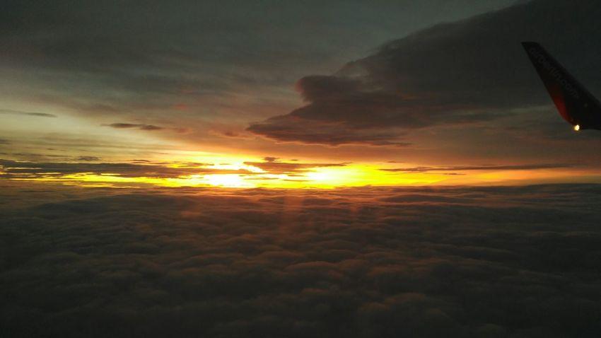 Plane Sunset Skyporn 30000feetinthesky