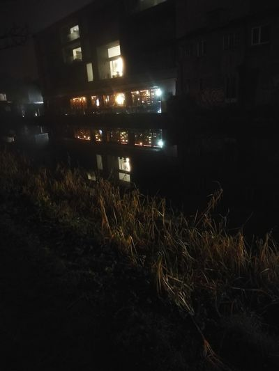 canal Walk at night River Dublin Reflection Canal Building Exterior Building Nightlife Night Illuminated No People Outdoors City Sky