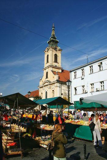 Church Openmarket Belgrade,Serbia Farmers Market