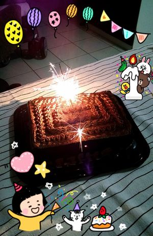 My Baby Birthday Cake Our First Month Together...