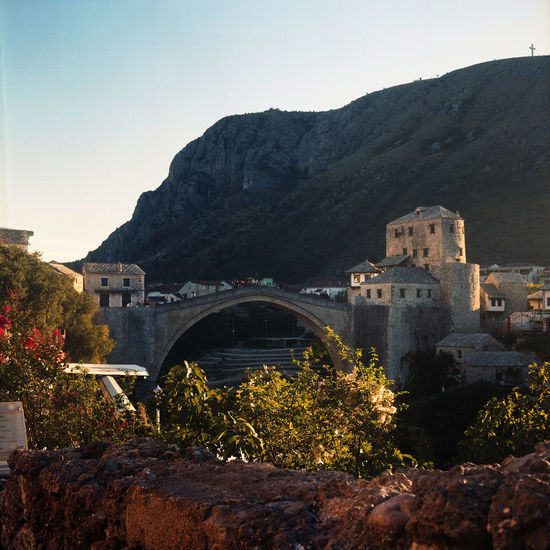 Autumn Colors Balkan Bosnia And Herzegovina Clear Sky Evening Light Mostar Mostar Bosnia Mostar Bridge Mostar ♥ Old Town Tourist Attraction  Arch Architecture Autumn🍁🍁🍁 Balkans Beauty In Nature Bridge - Man Made Structure Clear Sky Day Film Photography History Mountain No People Outdoors Travel Destinations EyeEmNewHere