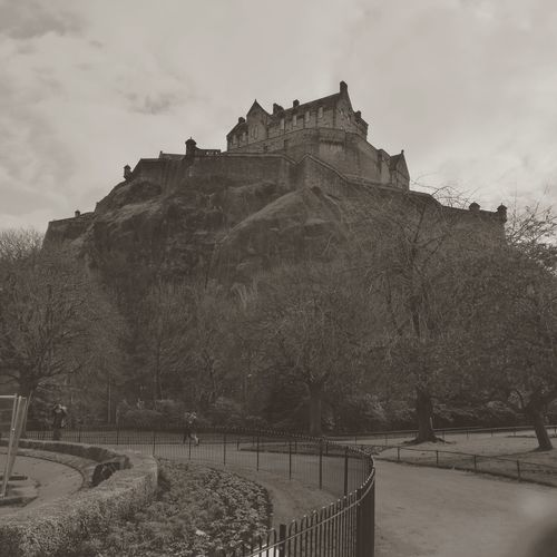 Edinburgh Castle viewed from West Princes Street Gardens History Travel Architecture Travel Destinations Old Ruin Cloud - Sky Tourism War Outdoors Sky Ancient Ancient Civilization No People Day Nature Edinburgh Castle Edinburgh Princes Street Gardens Scotland Scotland Travel Scotland History Scottish History Blackandwhite Black And White Blackandwhite Photography