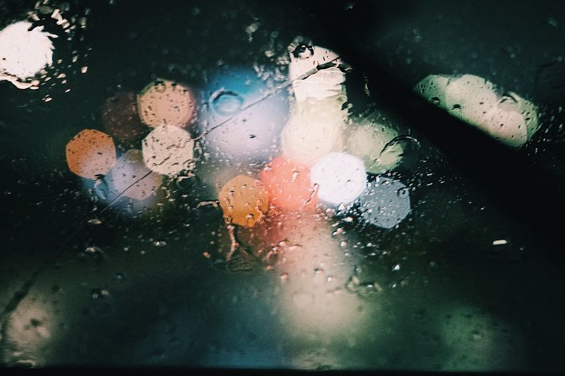 Wet Glass - Material Window Water Drop Car Vehicle Interior Rain Land Vehicle Rainy Season Transportation No People Mode Of Transport Weather Reflection Car Interior Indoors  Close-up Day RainDrop