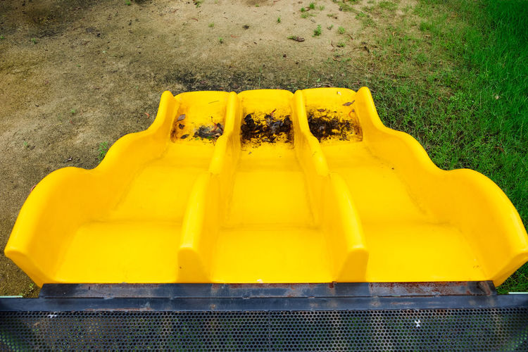 Childhood Close-up Day No People Outdoors Playground Playground Equipment Playground Slide Slider Yellow