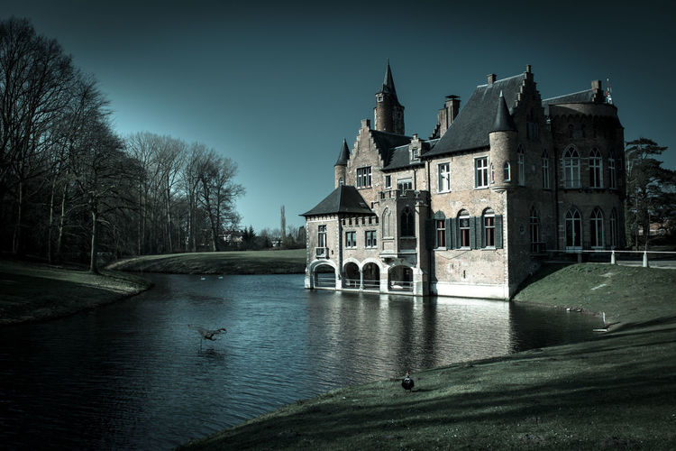 Bare Tree Beautiful Built Structure Castle House Nature No People Old Old Buildings Outdoors Park Reflection Tree Water