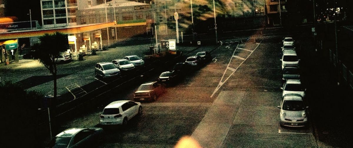 Showcase: February Urban Landscape Carpark View From Train Window End Of Day