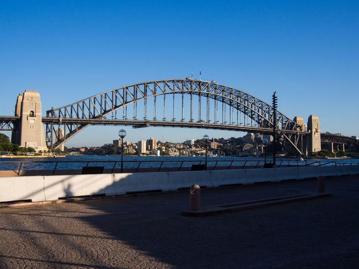 Sydney Harbour Bridge Against Clear Blue Sky