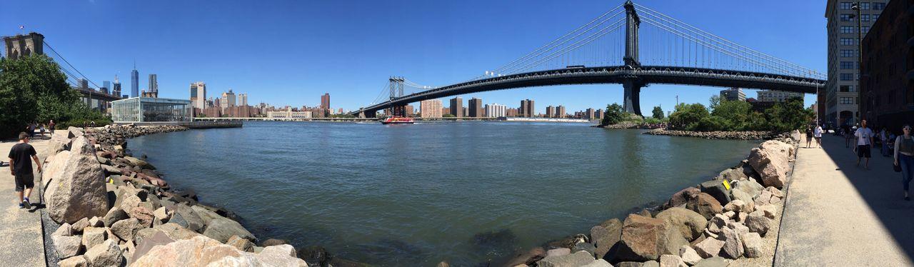 Newyork Bridge View EyeEm Selects Built Structure Architecture Water Bridge Sky Connection
