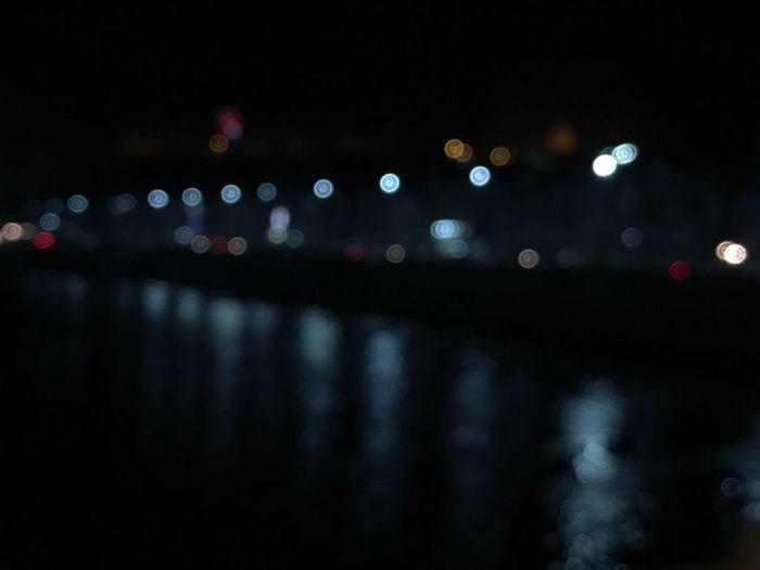 Lights. Water Reflections Water Nature Defocused No People Night Illuminated #unedited