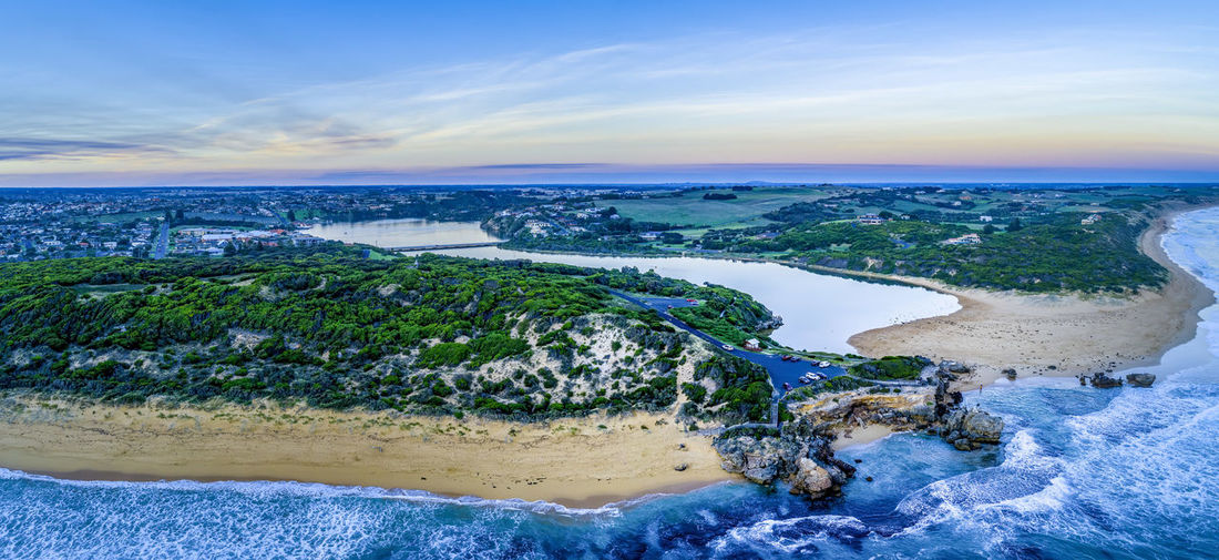 Coastline Great Ocean Road High Up Hopkins River Horizon Idyllic Landscape Panoramic Point Ritchie Rock Sky Surf Tide Travel Locations Aerial Australia Background Beach Beautiful Beauty In Nature Drone  Lookout Ocean Outdoor Panorama Scenic Sea Shore Sunset Travel Travel Destinations Victoria View Warrnambool Water Waves