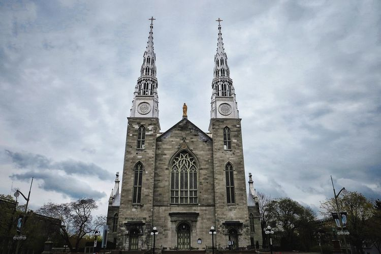 Notre-Dame Cathedral Basilica Place Of Worship Architecture Built Structure Building Exterior Travel Photography Ottawa Canada