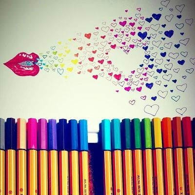 Spread love ❤ speak encouragingly to others 💙 be kind always 💚 love yourself 💛 accept the kindness of others 💜 the world is a beautiful place if you let it be 😙 💙❤💜💚💛 the pens stabilo Love Hearts Kind Kindness Arts_help Arts_gallery Stabilo Fineliners Sketchbook Wdfeatures Art_spotlight Art_empire Colour Rainbow Colourburst Folloforfollow Lips Fashion Amour Wallart Sketch_daily Artstagram Peace Beautiful Encouragement epic savetheworld quicksketch lifeisgood lifelessons