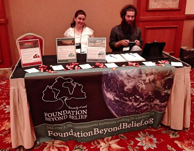 Had an awesome time tabling with these two wonderful human beings at TAM 2014 ! Thanks again for the opportunity Conor and Foundation Beyond Belief ! Skepticism The Amazing Meeting