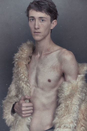 Portrait Model Shirtless Beautiful People Beauty People Fashion One Person Young Adult Adult Looking At Camera Fashion Model Beautiful Woman Cold Temperature Indoors  Adults Only Only Men Close-up One Man Only Be. Ready.
