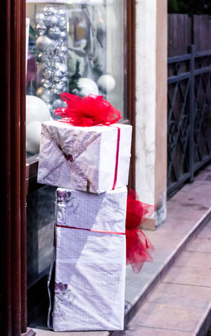 Celebration Presents Birthday Present Red Color Ribon Street Streetphotography Suprise White Box