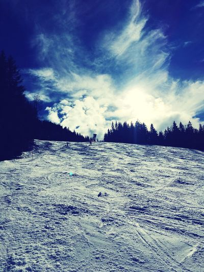 Winter Snow Cold Temperature Sky Weather Nature Cloud - Sky Skiing Garmisch-partenkirchen Hausberg
