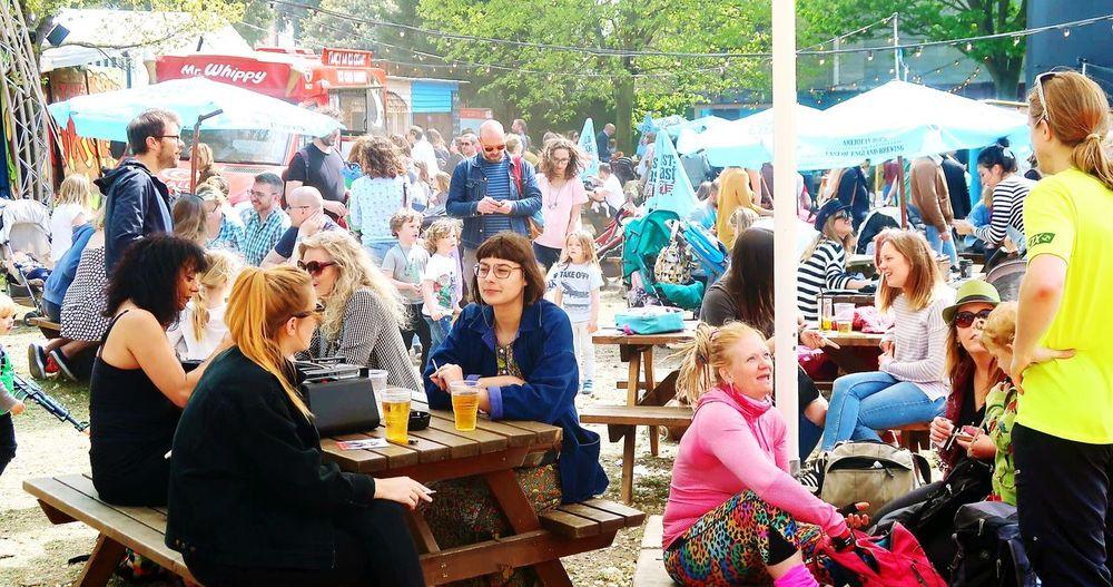 Festival Festival Season Busy Day Crowd Beer Garden Brighton Fringe Brighton