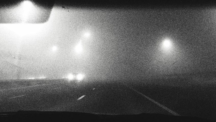 Fog Monochrome Blackandwhite Black & White Night Lights