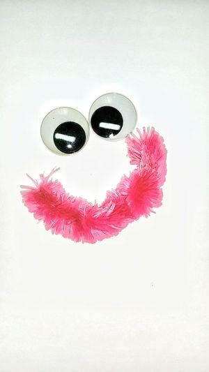 Eyes Plastic Fake Eyes Smiley Face Art Pink Pipe Cleaner Vibrant Color Making Crafts Backgrounds White Background Macro Making Art Funny Eyes Art Product Decoration Hand Made Macro Photography Arts And Crafts Craft Supplies Designs Room For Text Macro Art Full Frame Large Group Of Objects Lieblingsteil Millennial Pink EyeEm Ready